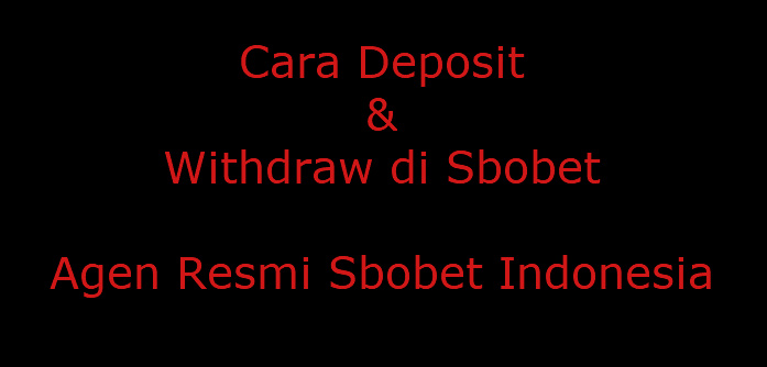 cara deposit dan penarikan